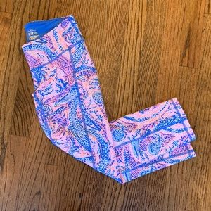 """Lilly Pulitzer Maybe Gator 21"""" Cropped Leggings XS"""